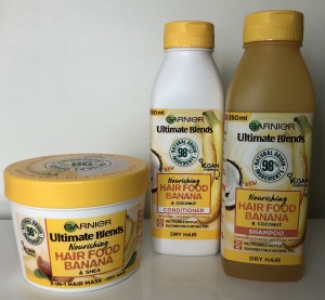 Garnier Ultimate Blends shampoo, condition and hair mask